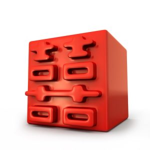 12385208 - chinese traditional double happiness for weddings cube 3d design element