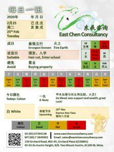 25th Feb Daily Feng Shui & Zodiacs