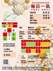 20th Mar Daily Feng Shui & Zodiac
