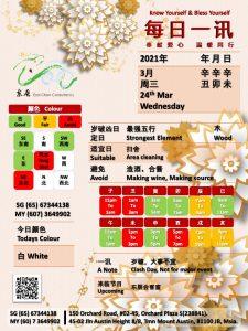 24th Mar Daily Feng Shui & Zodiac