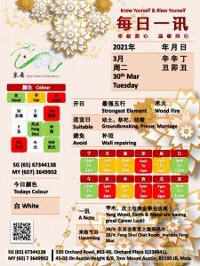 30th Mar Daily Feng Shui & Zodiac