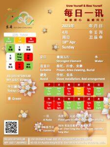 18th Apr Daily Feng Shui & Zodiac