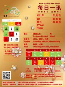 2nd Apr Daily Feng Shui & Zodiac