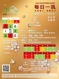 6th Apr Daily Feng Shui & Zodiac