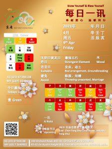 9th Apr Daily Feng Shui & Zodiac