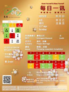 11th Apr Daily Feng Shui & Zodiac