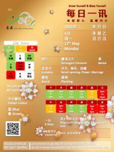 17th May Daily Feng Shui & Zodiac