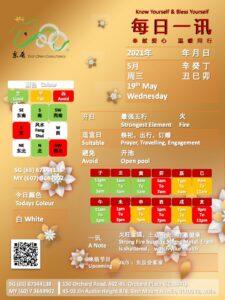 19th May Daily Feng Shui & Zodiac