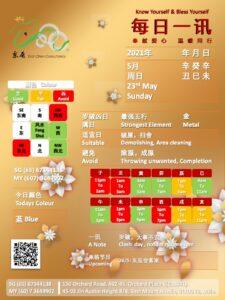 23rd May Daily Feng Shui & Zodiac