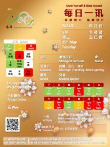 25th May Feng Shui & Zodiac