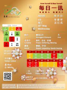 26th May Daily Feng Shui & Zodiac
