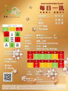 27th May Daily Feng Shui & Zodiac