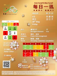 28th May Daily Feng Shui & Zodiac