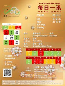 30th May Daily Feng Shui & Zodiac