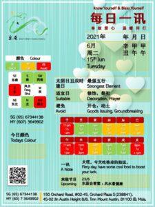 15th Jun Daily Feng Shui & Zodiac
