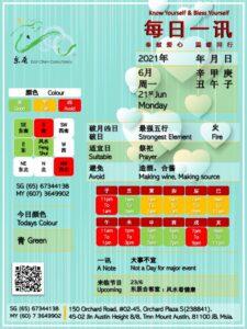 21st Daily Feng Shui & Zodiac