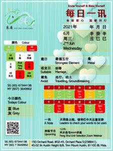 2nd Jun Daily Feng Shui & Zodiac