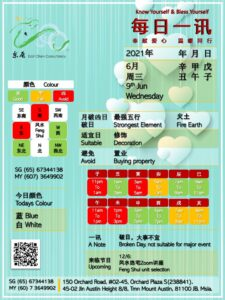 9th Jun Daily Feng Shui & Zodiac