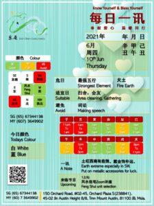 10th Jun Daily Feng Shui & Zodiac
