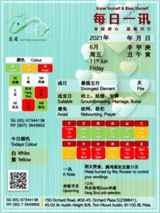 11th Jun Daily Feng Shui & Zodiac
